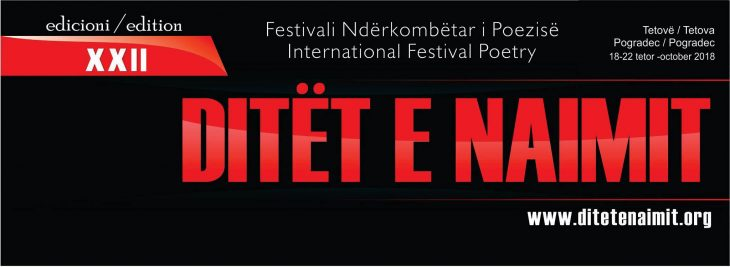 "XXII Edition of the International Poetry Festival ""Ditet e Naimit"""